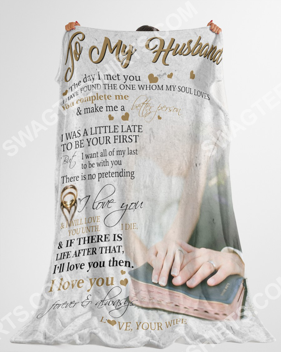 to my husband i love you forever and always full printing blanket 5(1)