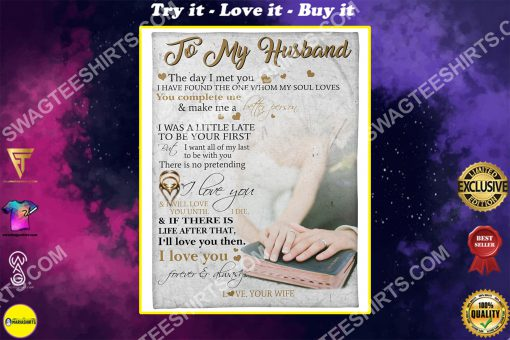 to my husband i love you forever and always full printing blanket