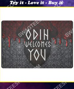 viking odin welcomes you all over printed doormat