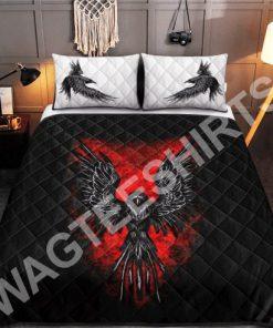 viking raven all over printed bedding set 2(1)