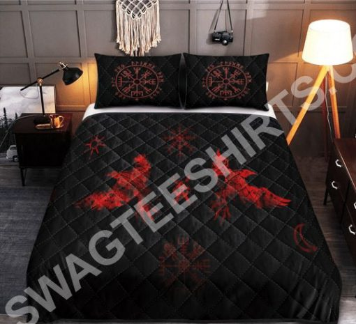 viking raven red all over printed bedding set 2(1) - Copy