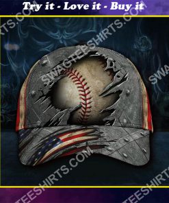 vintage baseball sport america flag all over printed classic cap