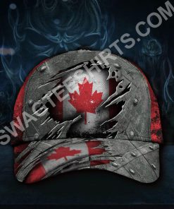 vintage canada flag all over printed classic cap 2(1) - Copy