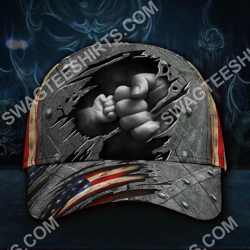 vintage fathers day america flag all over printed classic cap 2(1)