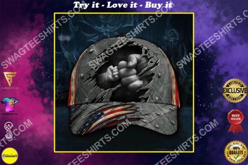 vintage fathers day america flag all over printed classic cap