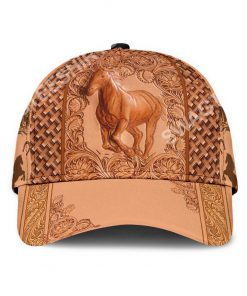 vintage the horse all over printed classic cap 2(1)