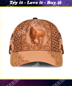 vintage the horse all over printed classic cap