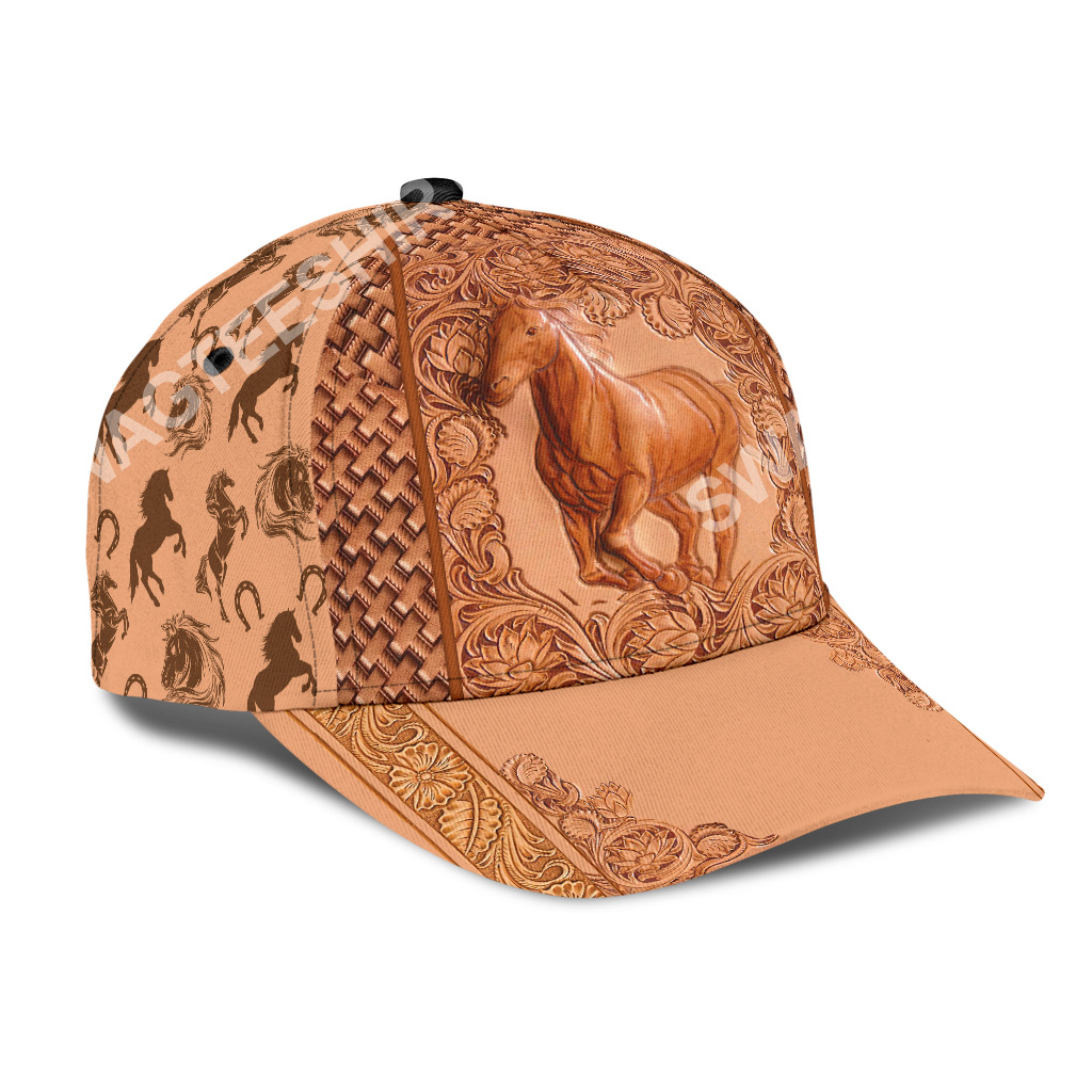 vintage the horse all over printed classic cap 3(1)