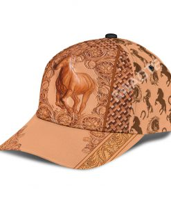 vintage the horse all over printed classic cap 4(1)