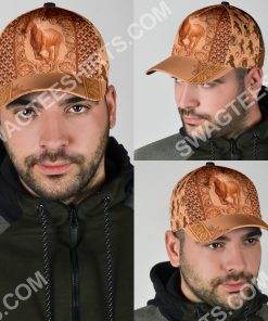vintage the horse all over printed classic cap 5(1)