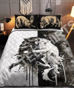 watercolor wolves viking all over printed bedding set 2(1) - Copy