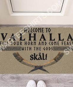 welcome to valhalla all over printed doormat 2(1)
