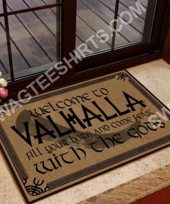 welcome to valhalla with your Gods doormat 2(1) - Copy