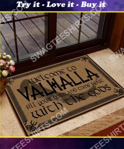 welcome to valhalla with your Gods doormat