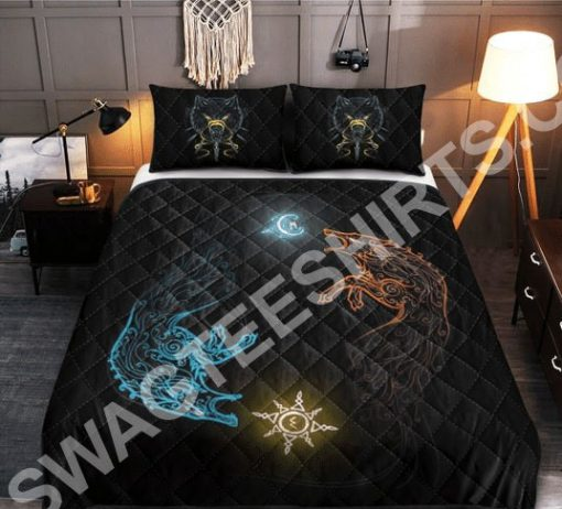 wolves viking all over printed bedding set 2(1)
