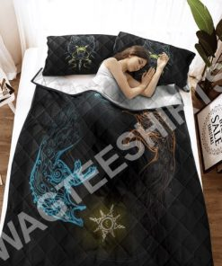 wolves viking all over printed bedding set 3(1)