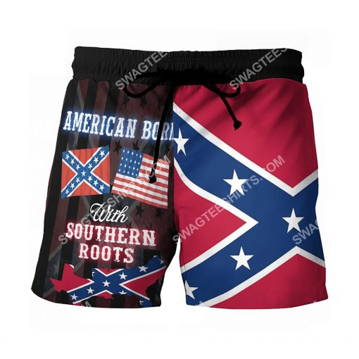 american born with deep southern roots beach shorts 2(1)