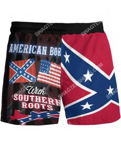 american born with deep southern roots beach shorts 3(1)