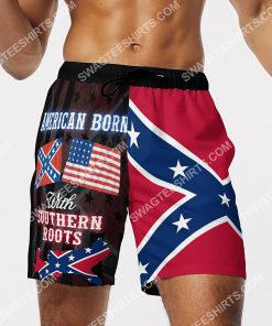 american born with deep southern roots beach shorts 4(1)