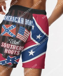 american born with deep southern roots beach shorts 5(1)