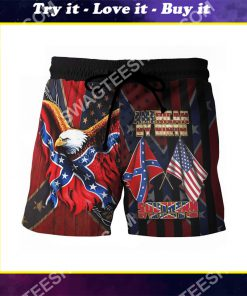 american by birth southern by the grace of God beach shorts