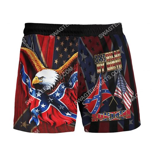 american by birth southern by the grace of God beach shorts 3(1)