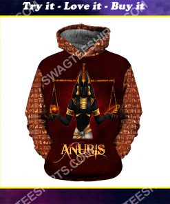 anubis the god of the egyptians all over printed shirt