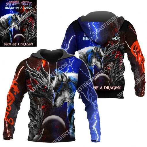 april guy heart of a wolf soul of a dragon all over printed hoodie 1
