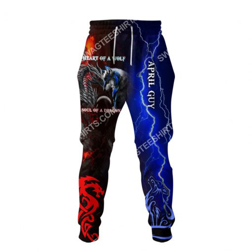 april guy heart of a wolf soul of a dragon all over printed long-pants 1