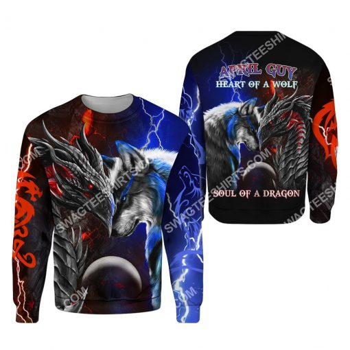 april guy heart of a wolf soul of a dragon all over printed sweatshirt 1