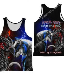 april guy heart of a wolf soul of a dragon all over printed tank top 1