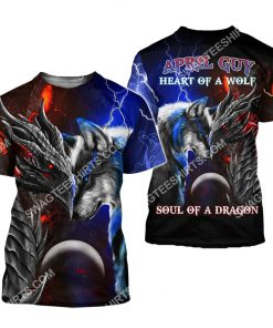 april guy heart of a wolf soul of a dragon all over printed tshirt 1