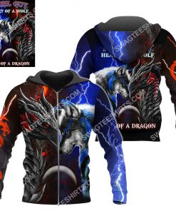 april guy heart of a wolf soul of a dragon all over printed zip hoodie 1