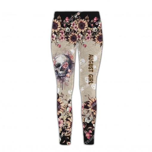 august girl with tattoos pretty eyes and thick thighs floral all over printed legging 1