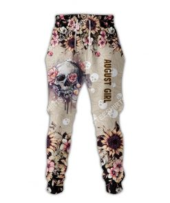 august girl with tattoos pretty eyes and thick thighs floral all over printed long-pants 1