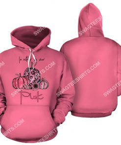 breast cancer awareness in october we wear pink halloween all over printed hoodie 1