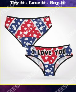 confederate state flag i love you women brief