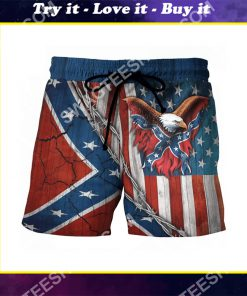 confederate states of america eagle beach shorts