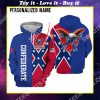 custom name confederate states of america flag all over printed shirt