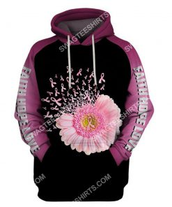 daisy flower breast cancer awareness all over printed hoodie 1 - Copy (2)