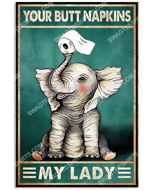 elephant your butt napkins my lady vintage poster 1(1)