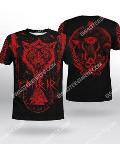fenrir wolf viking symbol all over printed tshirt 1