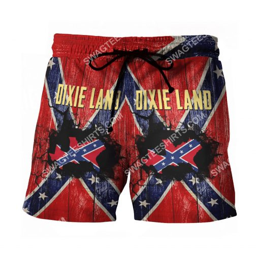 flags of the confederate states of america dixie land beach shorts 2(1)