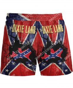 flags of the confederate states of america dixie land beach shorts 3(1)