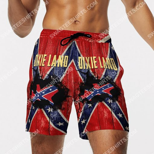 flags of the confederate states of america dixie land beach shorts 4(1)