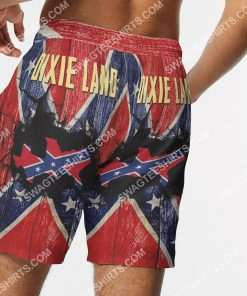 flags of the confederate states of america dixie land beach shorts 5(1)