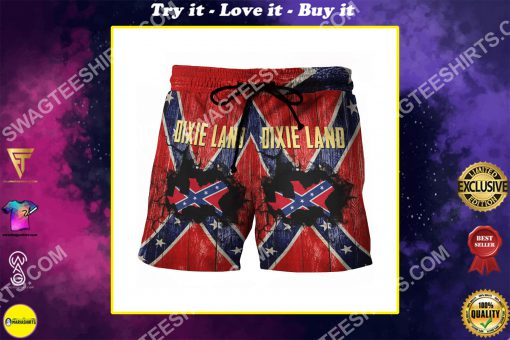 flags of the confederate states of america dixie land beach shorts