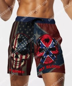 flags of the confederate states of america my home my blood beach shorts 2(1)