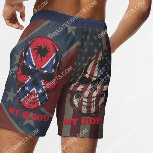 flags of the confederate states of america my home my blood beach shorts 3(1)