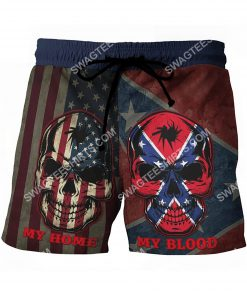 flags of the confederate states of america my home my blood beach shorts 4(1)